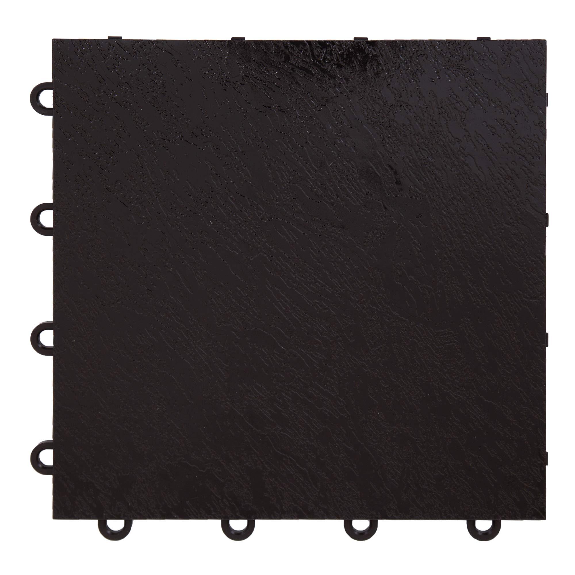 IncStores Black 12'' x 12'' Practice Dance Tiles (40-12''x12'' Tiles) by IncStores