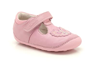 0b0ab988b225 Clarks Girls Pre-School Ida Sweet Leather Shoes In Pink Wide Fit Size 3.5 E