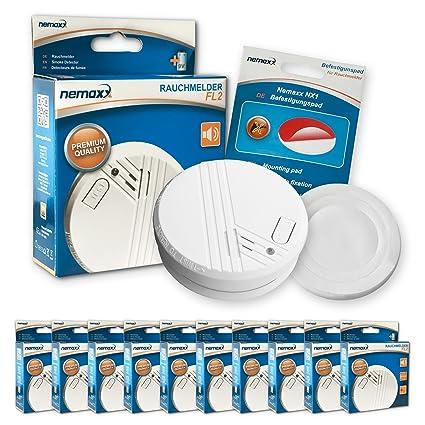 Nemaxx FL2 - Detector de humo según la norma DIN 14604 es y NX1 soporte magnético