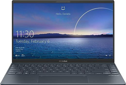 """Asus Zenbook 13 UX325EA#B08CKS1PDM, Notebook in Alluminio 13,3"""" FHD Anti-Glare, Intel Core 11ma Generazione i3-1115G4, RAM 8GB, 256GB SSD PCIE, Grafica Intel Iris Plus, Windows 10 Home, Grigio Scuro"""