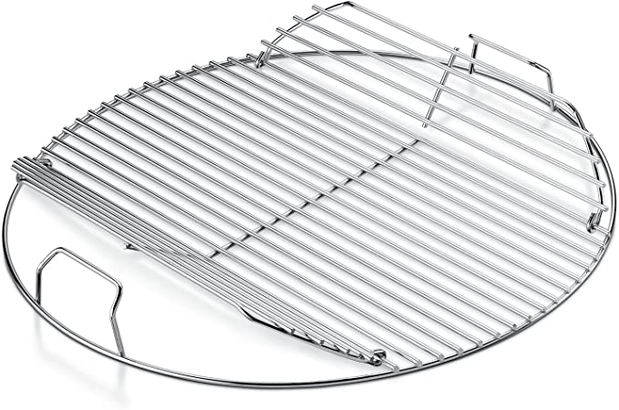 Weber Cooking Grate Plated Steel Hinged Charcoal Grill Replacement Part Grid Bbq