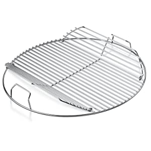 Weber Replacement Hinged Charcoal Cooking Grate, 22 Inch