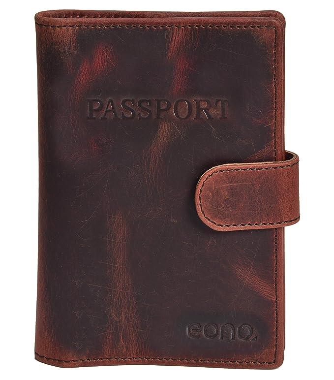 Porta pasaporte de cuero - para hombres y mujeres - Estuche ...