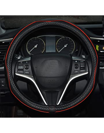 Peugeot Faux Leather Steering Wheel Cover Grey Vehicle Parts