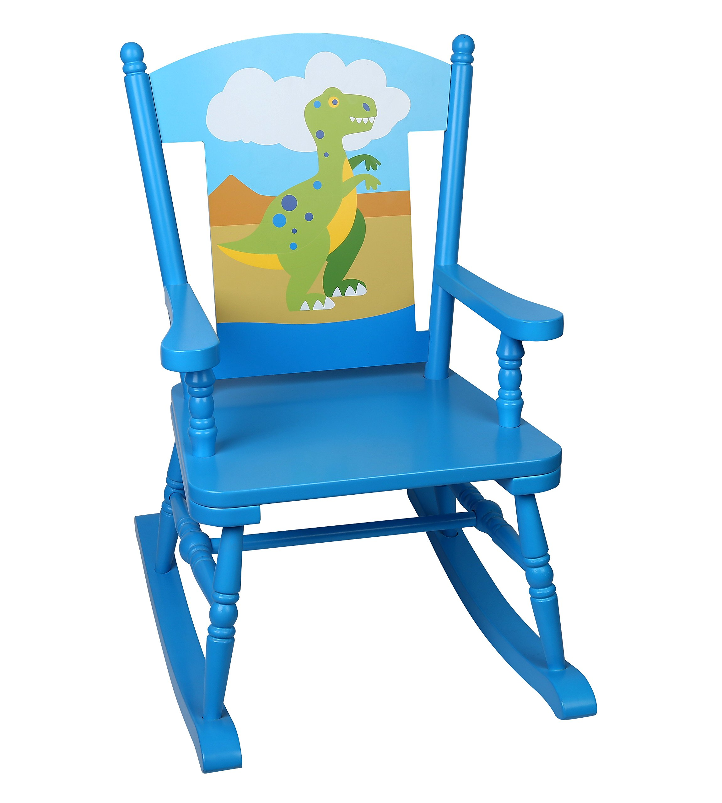 Olive Kids Dinosaur Rocking Chair, Blue
