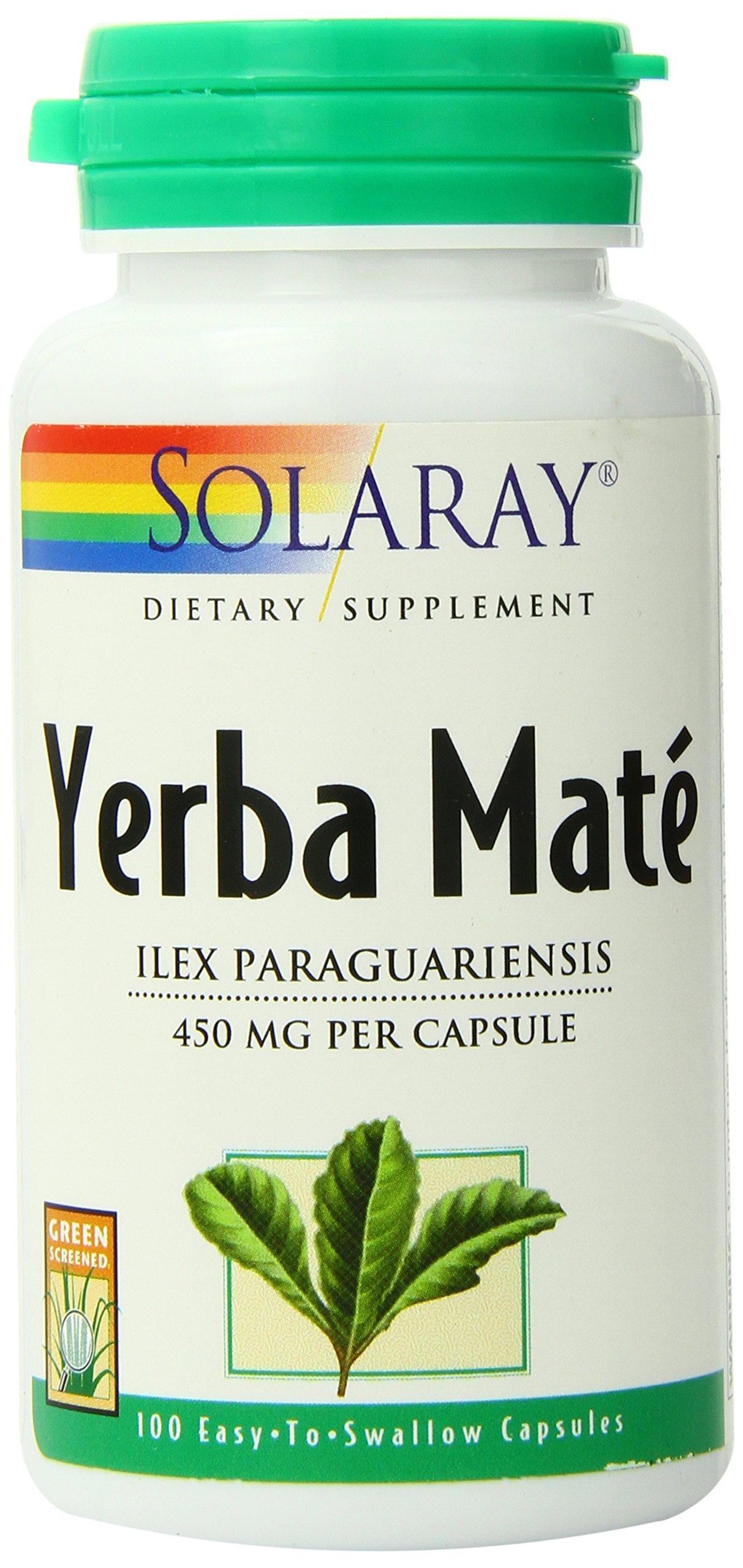 Solaray Yerba Mate Supplement, 450mg, 100 Count