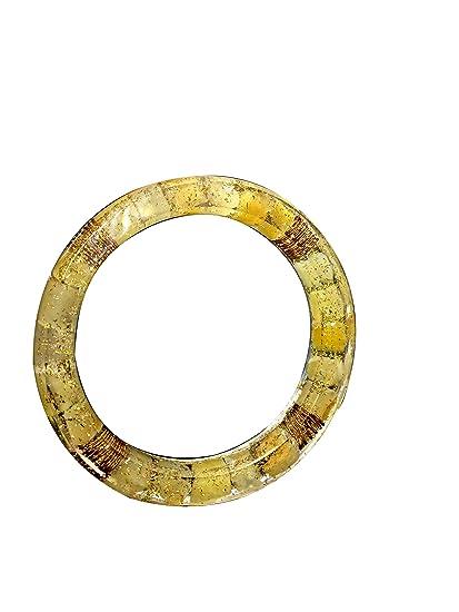 ccf51225721 Crocon Exclusivo Citrine Orwent Brazalete con 4 muelles de cobre para curar  el generador de energía