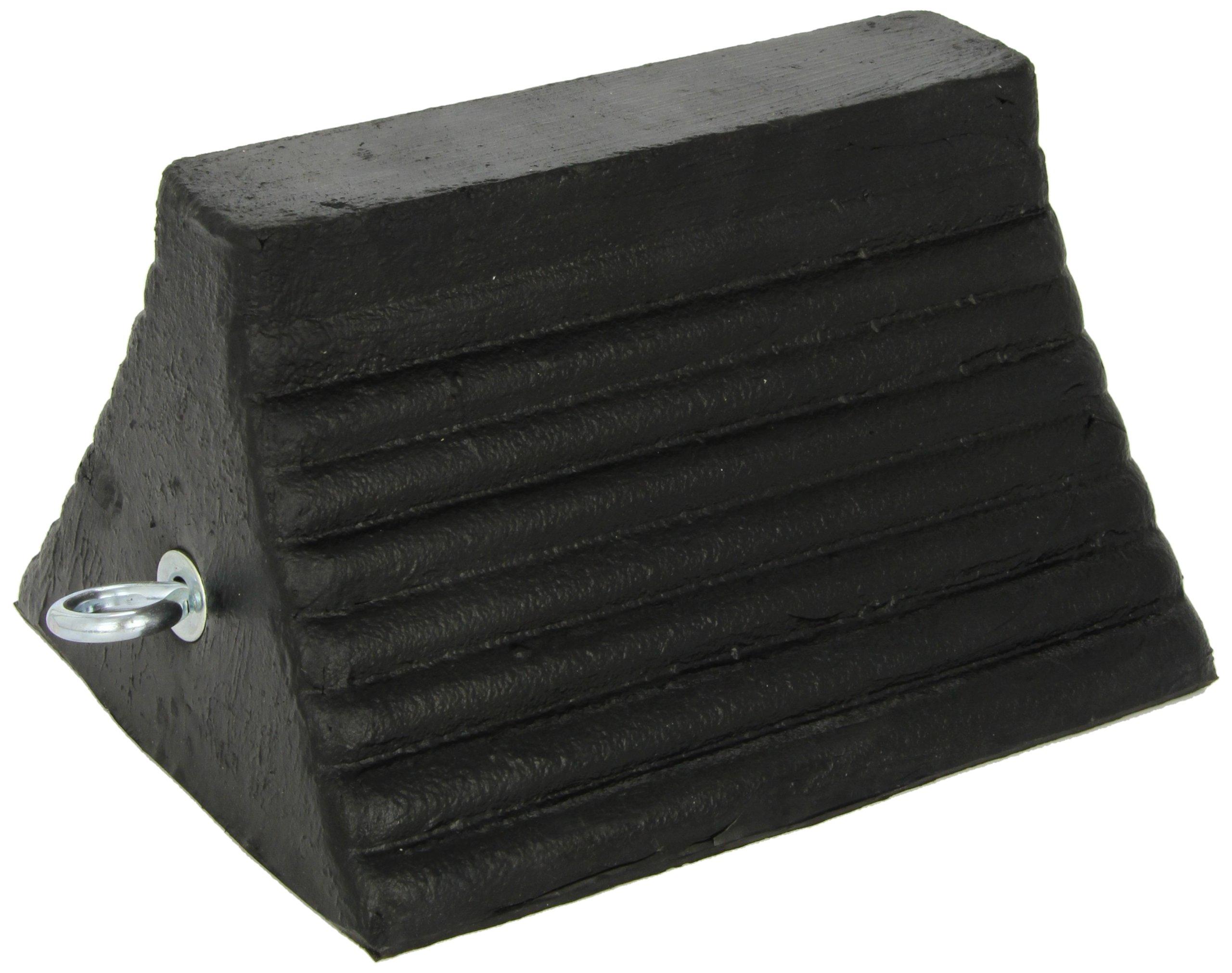Roadblock RC815 Rubber Wheel Chock with Void Bottom, Black, 10'' Length x 8'' Width x 6'' Height