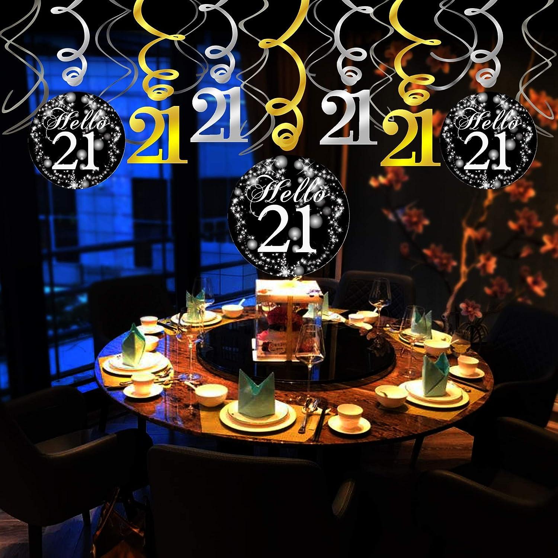 21st BIRTHDAY TABLE CONFETTI DECORATION