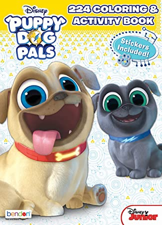 Bendon Disney Junior Puppy Dog Pals 224 Page Coloring And Activity Book With Stickers