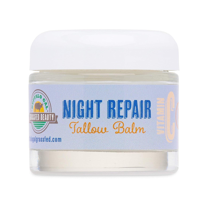 Buffalo Gal Grassfed Beauty NIGHT REPAIR BALM (2.3 oz) with food based Vitamin C