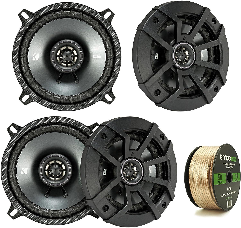"CS Series 5-1//4/"" 2-Way Car Audio Speakers with Polypropylene Cones 2 KICKER"