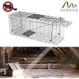 Trampa galvanizada para capturar animales vivos 80 cm - Trampas para ratones vivos ...