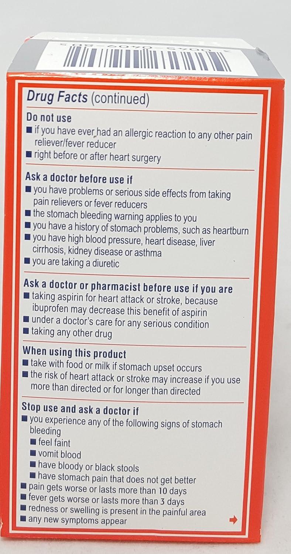 Amazon.com: Motrin Liquid-Gels 200mg Ibuprofen, 80 Count Per Bottle (2 Bottles): Health & Personal Care