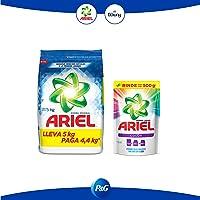 Ariel + Downy Ariel Detergente En Polvo 5 Kg + Ariel Íquido Concentrado 400 Ml, Pack of 1
