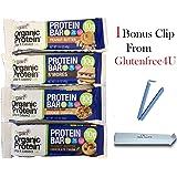 Orgain Dr Developed 100% plant based Organic Protein Bar 4 variety 12 pack + 1 Bonus clip from Glutenfree4U