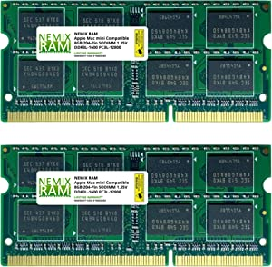 16GB (2 X 8GB) DDR3 1600MHz PC3-12800L Memory RAM Upgrade for Apple Mac Mini 2012 (6,1 6,2) MD388LL/A