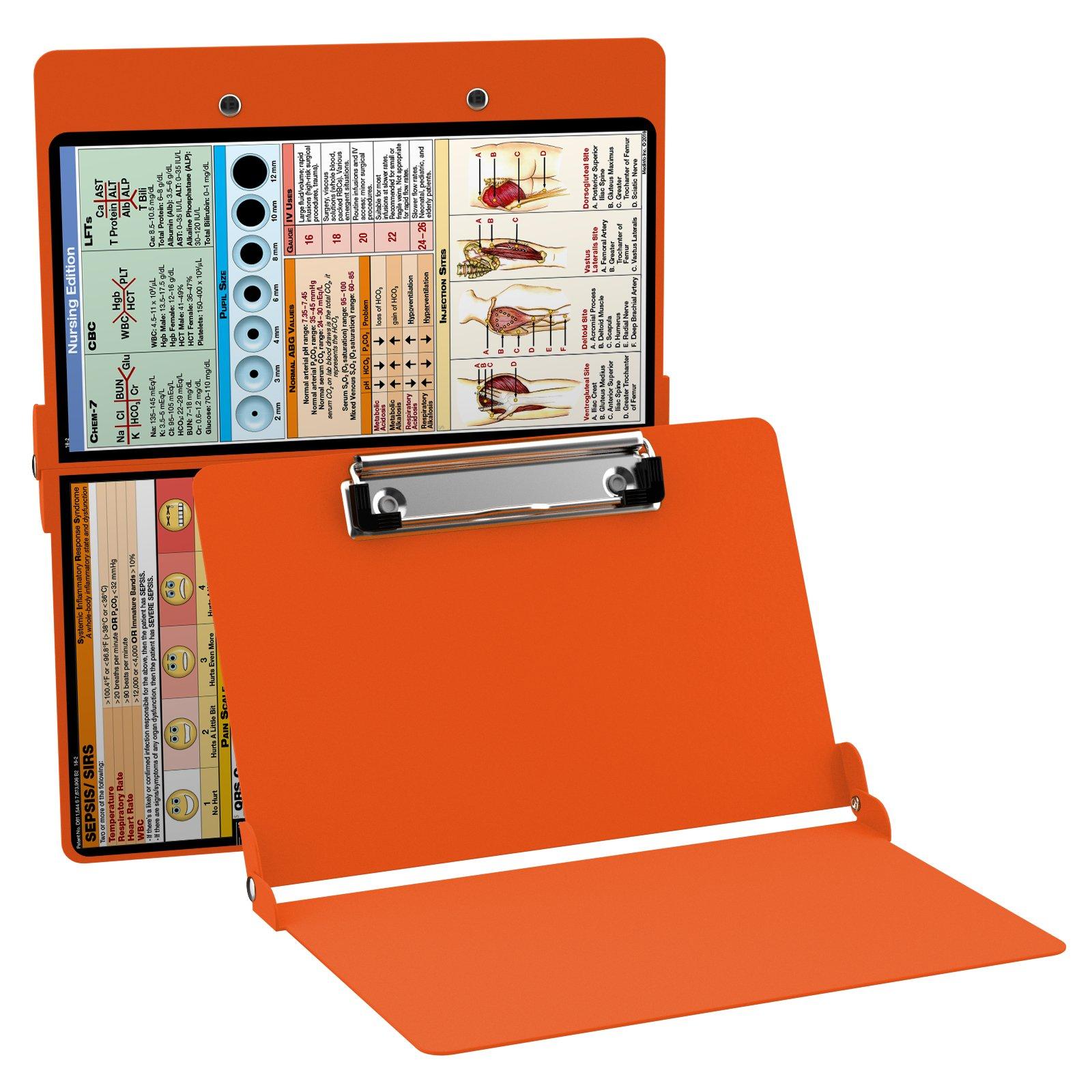 WhiteCoat Clipboard- Safety Orange - Nursing Edition