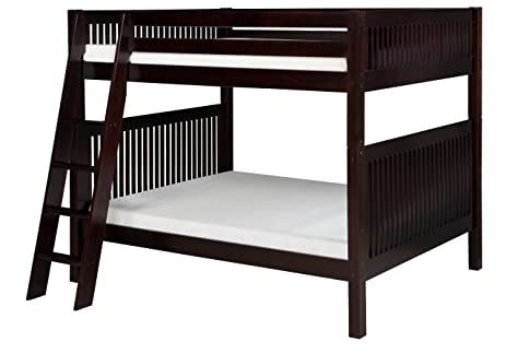 camaflexi mission style solid wood bunk bed side angled