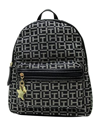 7fc56159374 Amazon.com: Tommy Hilfiger Women's Small Backpack Monogram Logo TH Denim:  Shoes