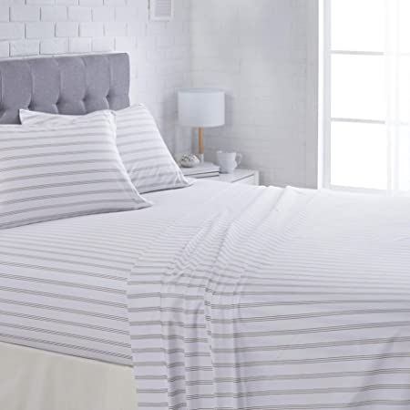 Navy Blue Stripe 60 x 80 Singhs Textiles 100/% Egyptian Cotton 400 Thread Count 1-Piece Extra Deep Pocket Fitted Sheet Queen +8 Inches Fit Upto