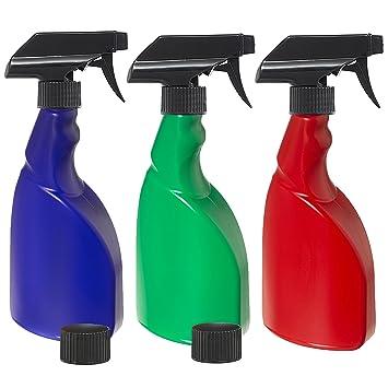 Nomara Organics(TM) - 3 botellas de espray sin BPA de 500 ml.