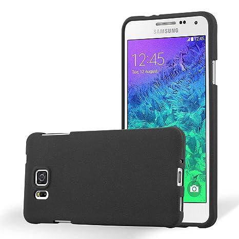 Cadorabo Funda para Samsung Galaxy Alpha en Frost Negro - Cubierta Proteccíon de Silicona TPU Delgada e Flexible con Antichoque - Gel Case Cover ...