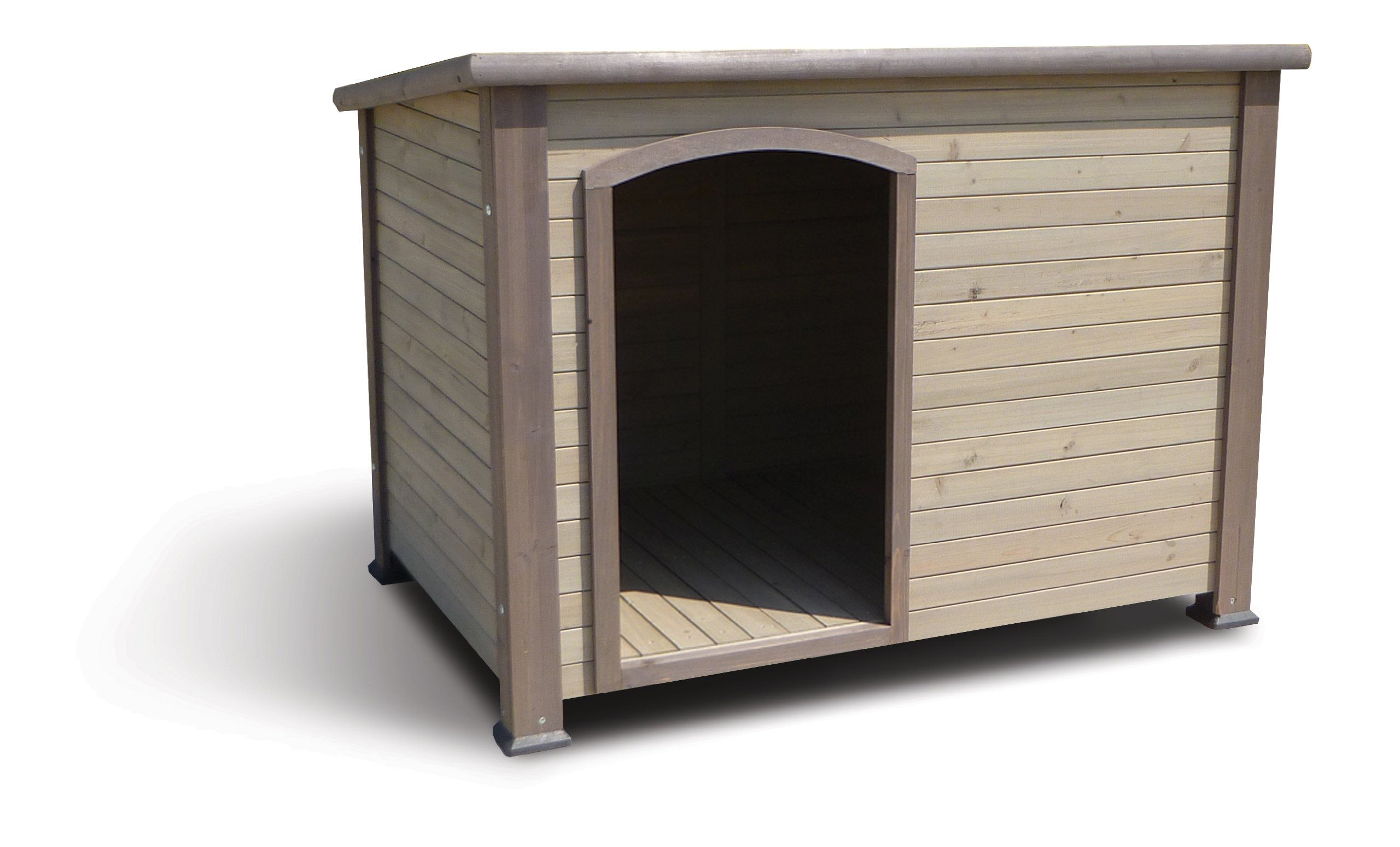 Precision Pet Extreme Log Cabin Large 45.5 in. x 33 in. x 32.8 in. Taupe