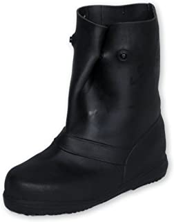 """product image for TREDS 14850 Super Tough 12"""" Pull-On Stretch Rubber Overboots for Rain, Slush, Snow and Construction, Small (One Pair)"""