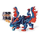 Bloco Toys Treasure Keeper Dragon   STEM TOY   DIY Building Construction Set (240 Pieces), Grey, Blue, Orange