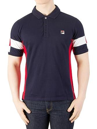 1ddd94087d18 Fila Vintage Men s Prago Panel Polo Shirt