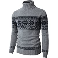 H2H Mens Casual Slim Fit Turtleneck Pullover Sweaters Knitted Long Sleeve Twisted