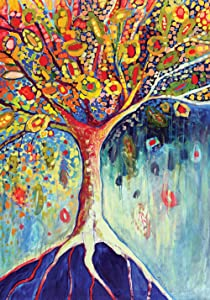 Toland Home Garden Tree of Life 12.5 x 18 Inch Decorative Colorful Fall Multicolor Earth Root Garden Flag
