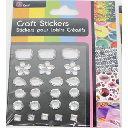 Craft adhesive gem stickers clear