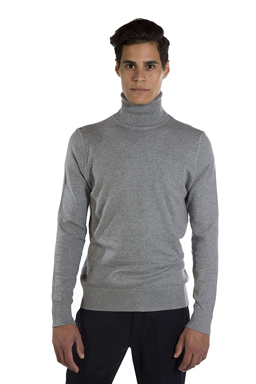 MY BASIC Jersey básico Cuello Cisne de Algodon-Cachemira para Hombre