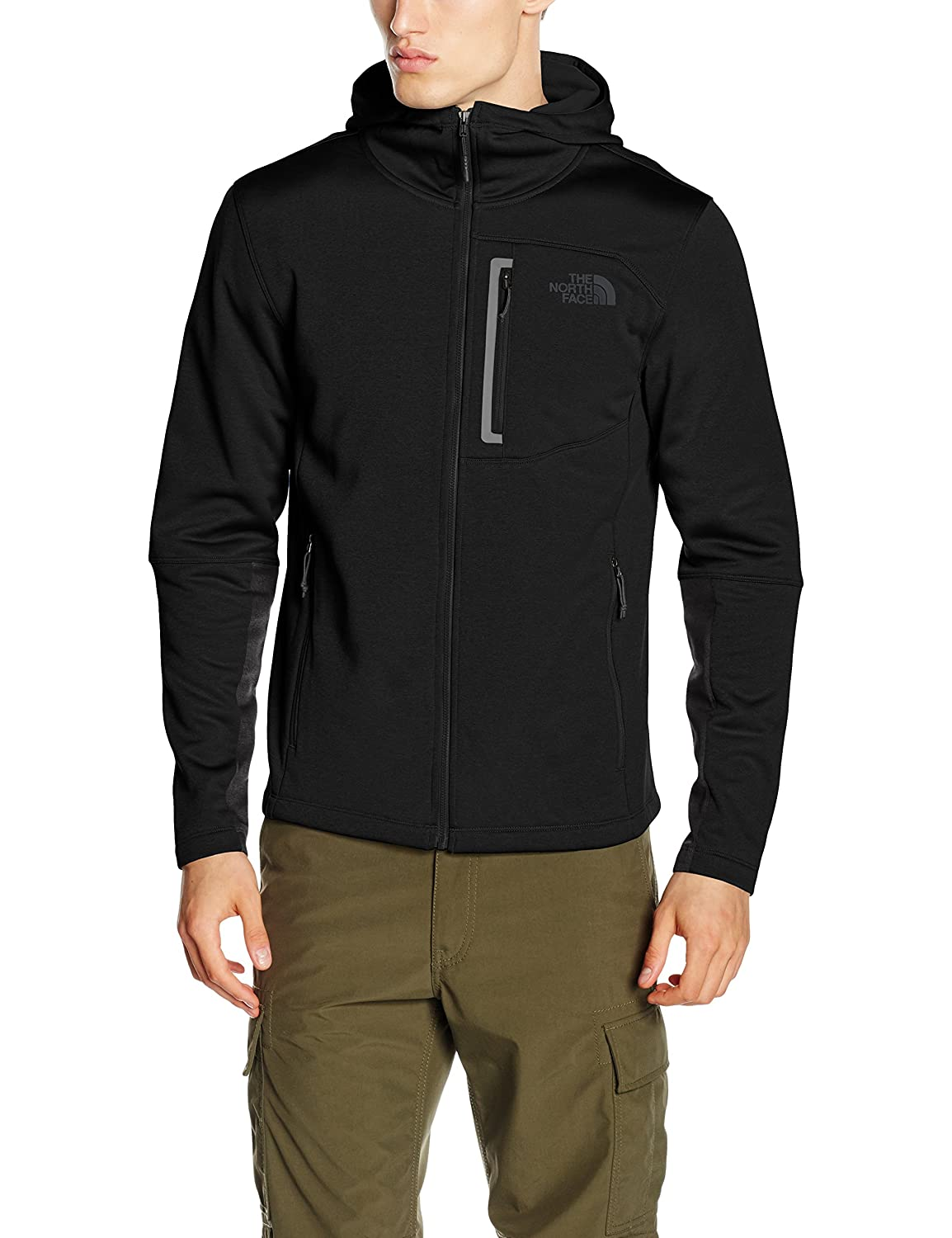 TALLA M. The North Face M Canyonlands Hoodie Camiseta, Hombre, Negro, M
