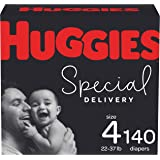 Hypoallergenic Baby Diapers Size 4, 140 Ct, Huggies Special Delivery