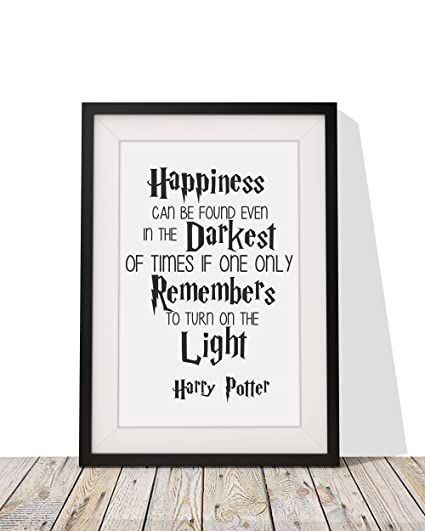 Amazon.com - Harry Potter Inspired Quote \'Happiness Can Be Found In ...