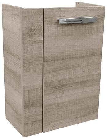 Fackelmann 82592 Waschtischunterschrank Holz Graueiche Single 24