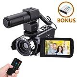 Videocamera Digitale Portatile Onshowy 24 Megapixel Zoom  Videocamera Full HD con Microfono Esterno Anti-Shake Digital Video DV 1080P 30FPS Videocamera Portatile Con telecomando (con pennino)