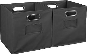 Natural Niche Cubo Foldable Fabric Storage Bin Set of 6