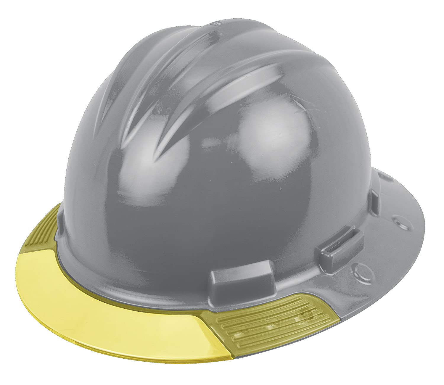 One Size Bullard AVDGRY  Above View Hard Hat Cotton Brow Pad Ratchet Suspension Yellow Visor Dove Grey