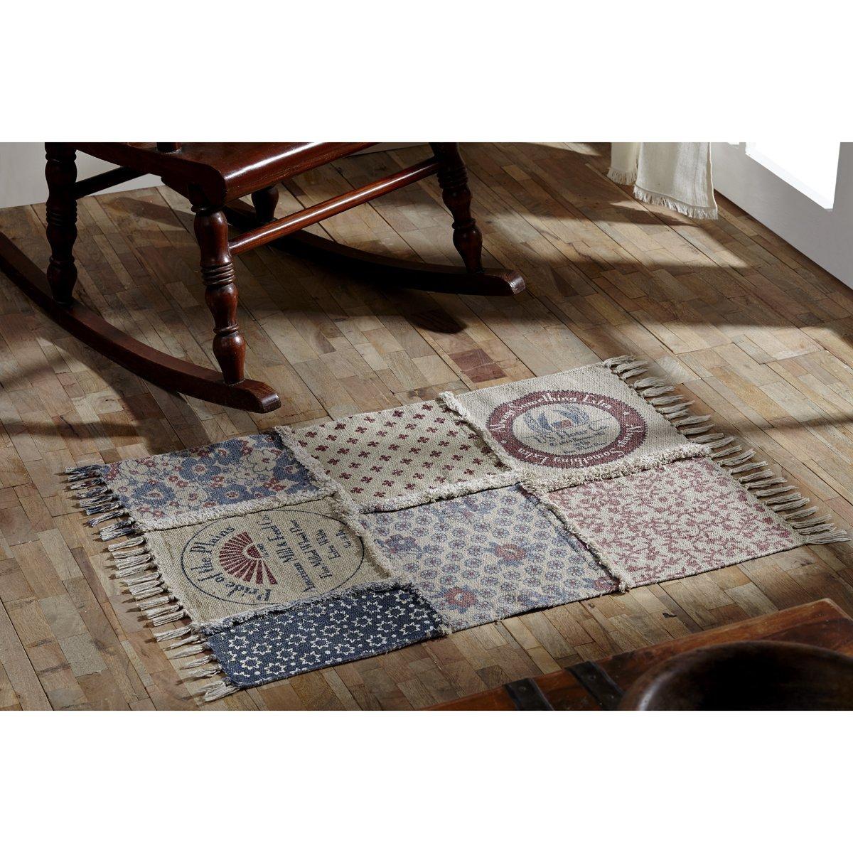 Millie White Patchwork Rug 5 x 8 5/' x 8/' 16147 VHC Brands Farmhouse Flooring