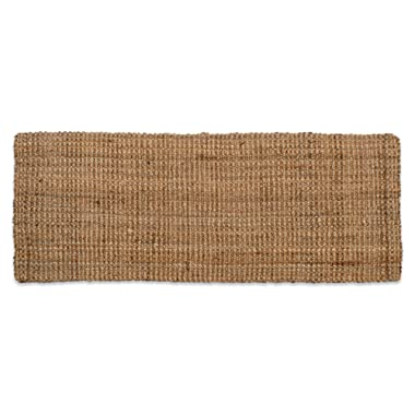 Neutral Eco-Friendly Sturdy Rolled Natural Indoor/Outdoor Jute Rug, 22x60 , Reversible for double the wear-Gold