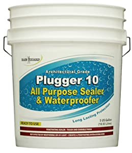 Rain Guard Water Sealers CR-1505 Plugger 10% Solids Hybrid Acrylic and Silane Sealer Ready to USE Covering up to 1000 Sq. Ft. on All Newer Surfaces. 5 Gallon Professional Grade