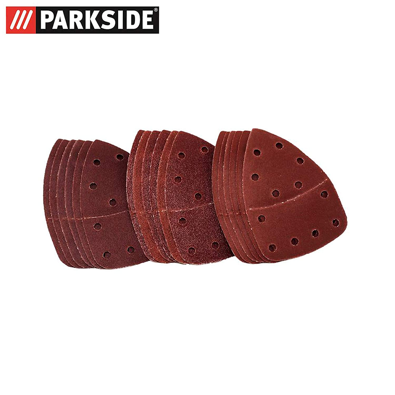 Hojas de lija Set Madera 18/unidades para Parkside mano Amoladora PHS 160/E5/ /Lidl Ian 303400/grano 6/x K60/6/x K120/6/x K240