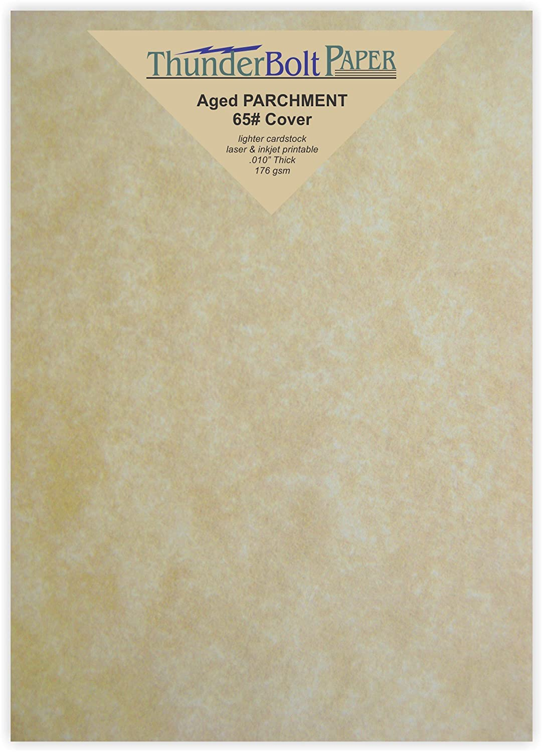 300 Old Age Parchment 65lb Cover Paper Sheets 5X7 Inches Cardstock Weight Colored Sheets 5