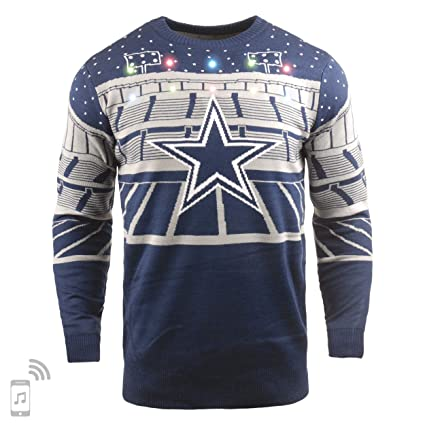best service a970a c45e7 FOCO NFL Dallas Cowboys Mens Light Up Bluetooth Speaker Sweaterlight Up  Bluetooth Speaker Sweater