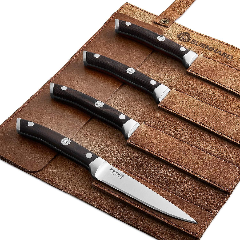 Cuchillo profesional para carne con mango de madera pakka y ...