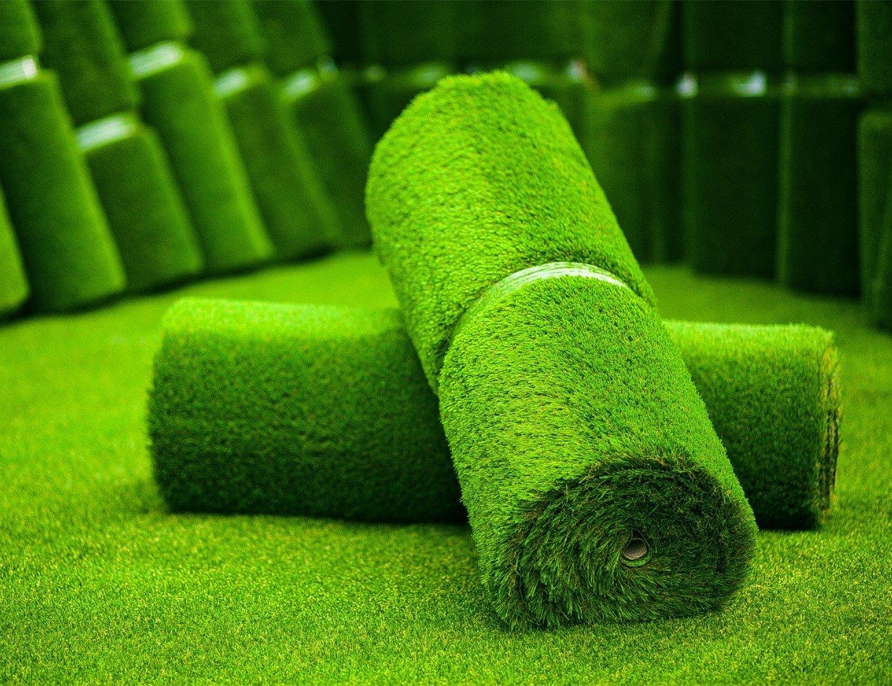 MTBRO Artificial Grass, Artificial Grass Rug, Indoor/Outdoor Artificial Turf, Blade Height 1.5'',100oz/sq.yard, (5 ft X 13 ft)